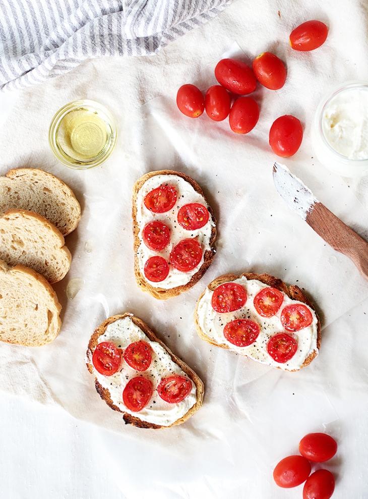 Whipped Feta & Tomato Bread @themerrythought