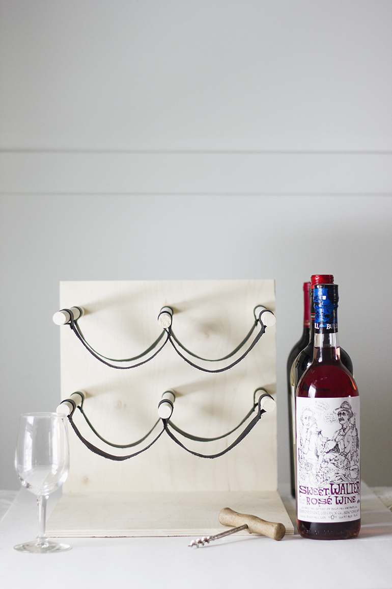 DIY Wood \u0026 Leather Wine Rack » The Merrythought