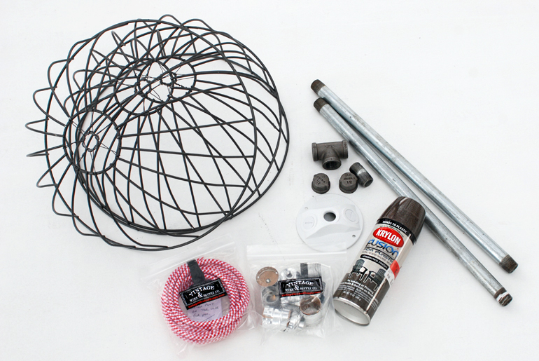 diy wire basket lights
