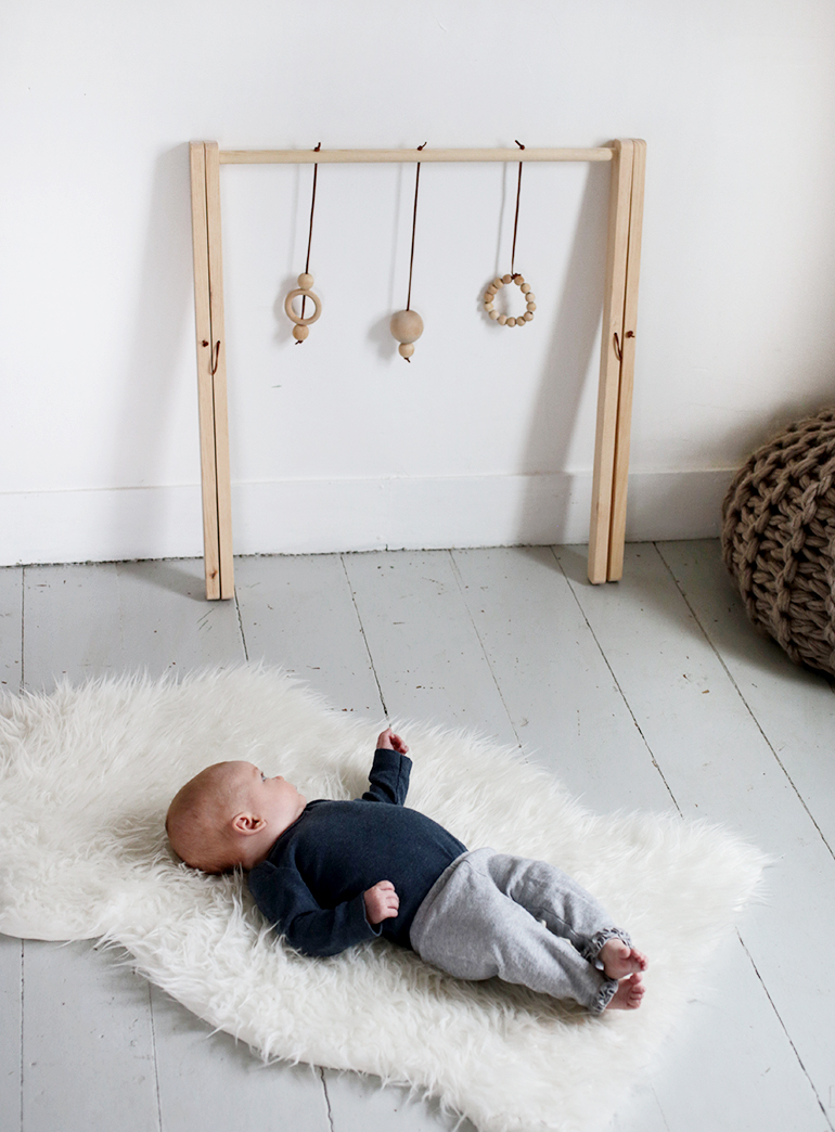 diy wooden baby gym the merrythought. Black Bedroom Furniture Sets. Home Design Ideas