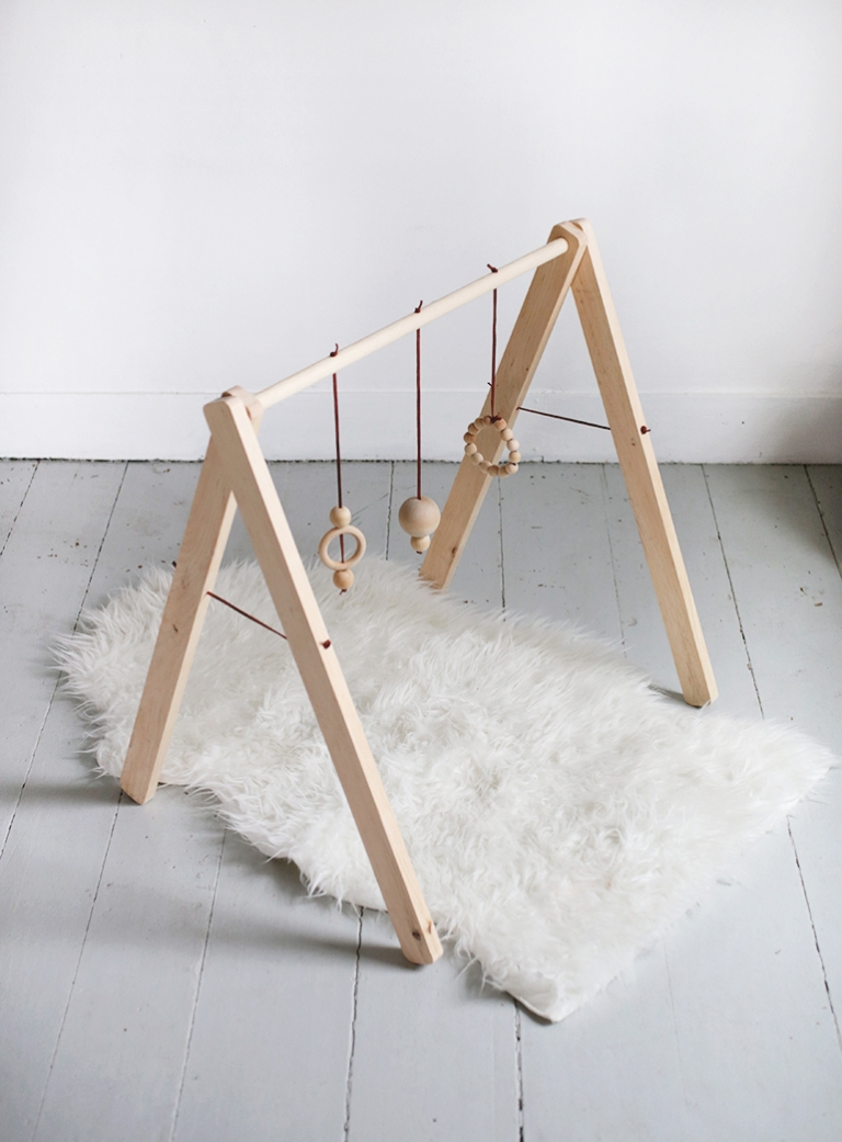 diy wooden baby gym - the merrythought