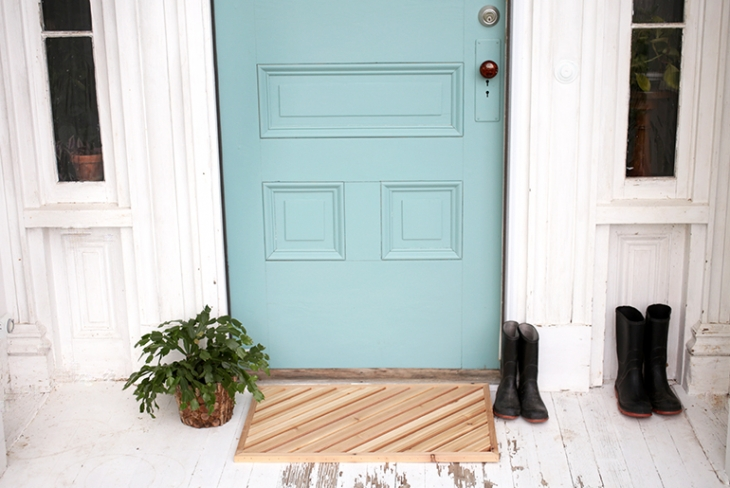 DIY Wood Doormat @themerrythought