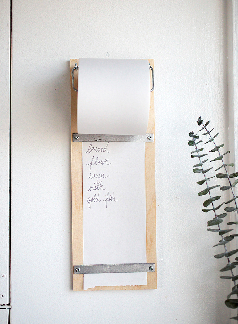 Diy wood shopping list pad the merrythought for To do board for kitchen