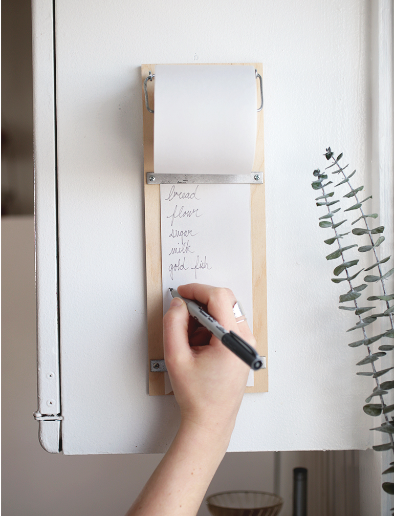 Diy Wood Shopping List Pad The Merrythought