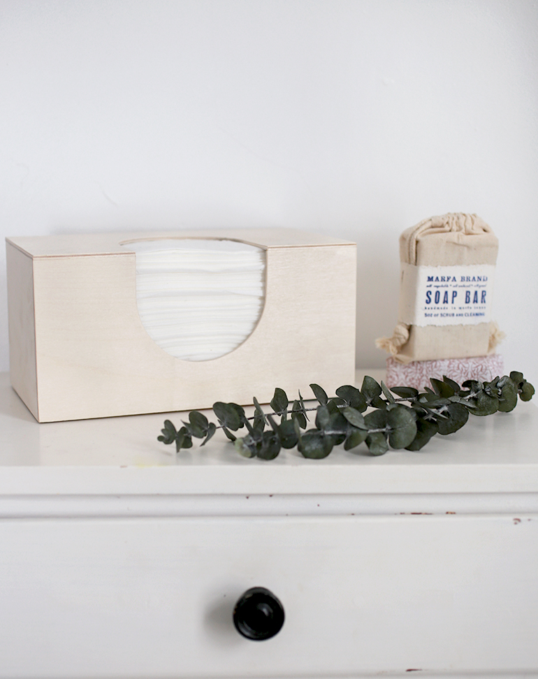 diy wooden tissue box cover