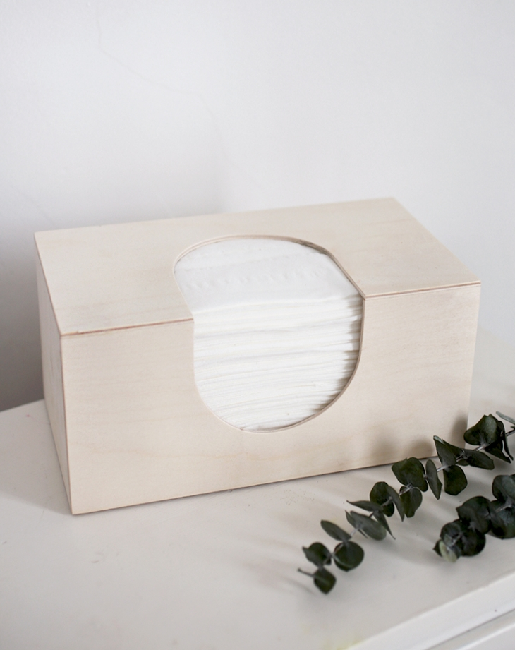 DIY Wooden Tissue Box Cover @themerrythought