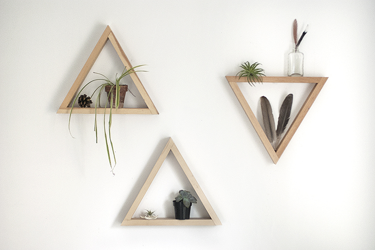 Diy Wooden Triangle Shelves The Merrythought