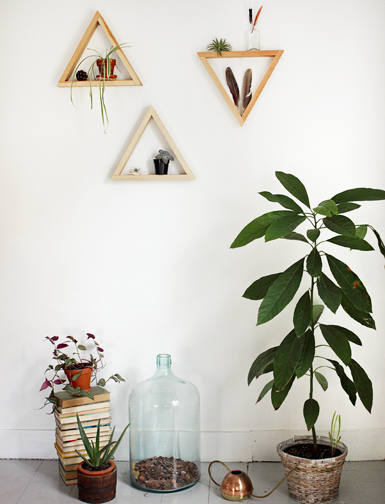 DIY Wooden Triangle Shelves » The Merrythought