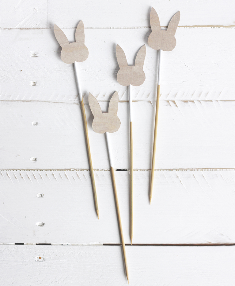 Wooden Rabbit Drink Stirrers @themerrythought