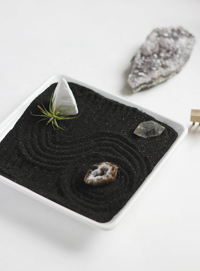 how to make a mini zen garden rake
