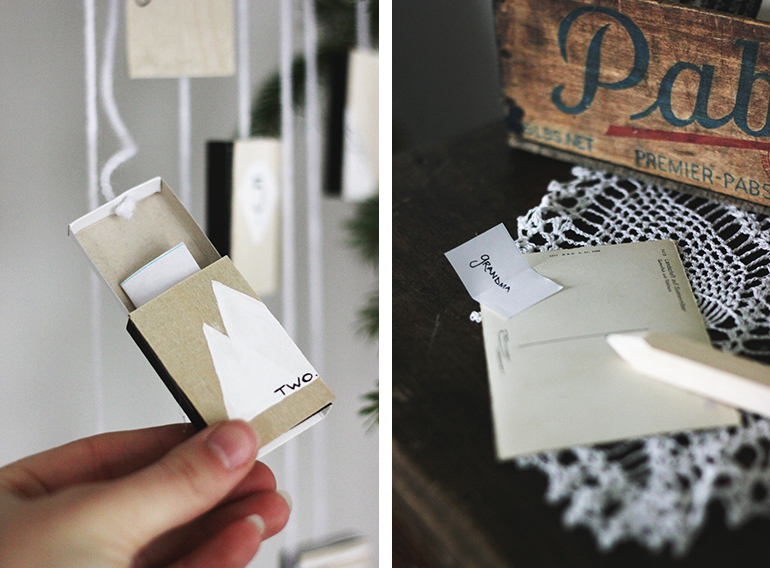 DIY Post Card & Matchbox Advent Calendar @themerrythought
