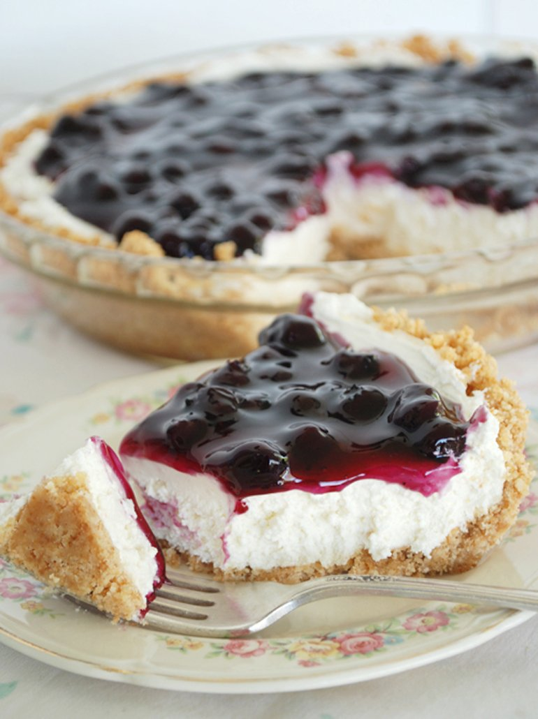 No-Bake Blueberry Cheesecake Pie » The Merrythought