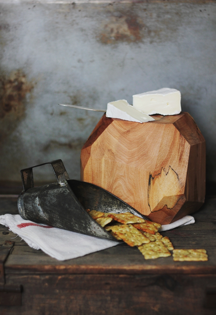 DIY Wooden Geometric Cheese Block @themerrythought