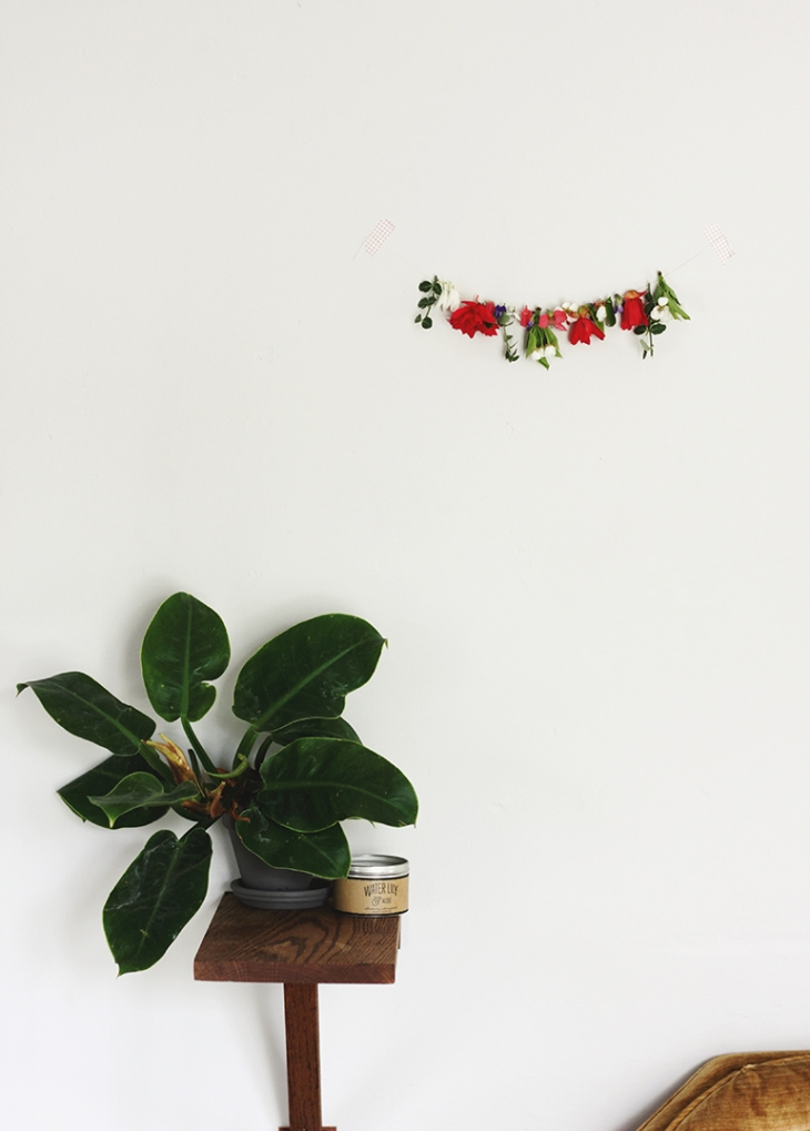 Gathered: Fresh Floral Garland @themerrythought