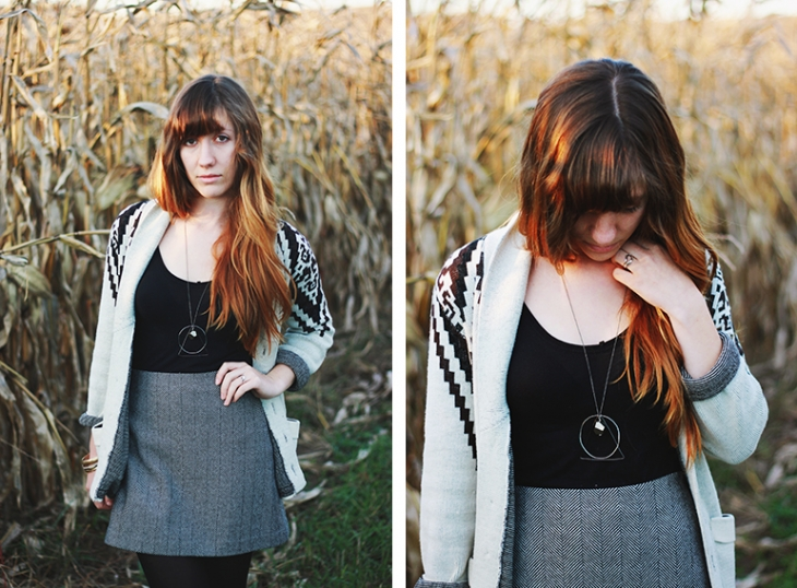DIY Geometric Necklace @themerrythought