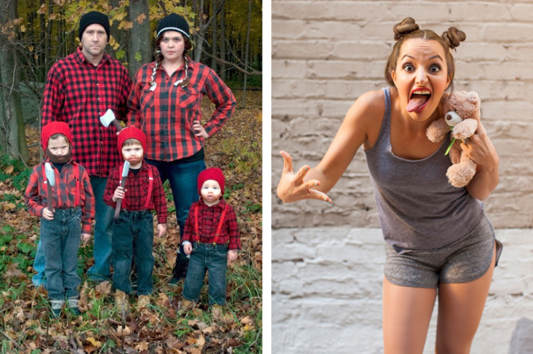 20 Homemade Halloween Costumes | The Merrythought Lumberjacks.  sc 1 st  The Merrythought & 20 Handmade Halloween Costumes - The Merrythought
