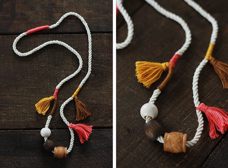 nAnthro Inspired Tassel Necklace // The Merrythought