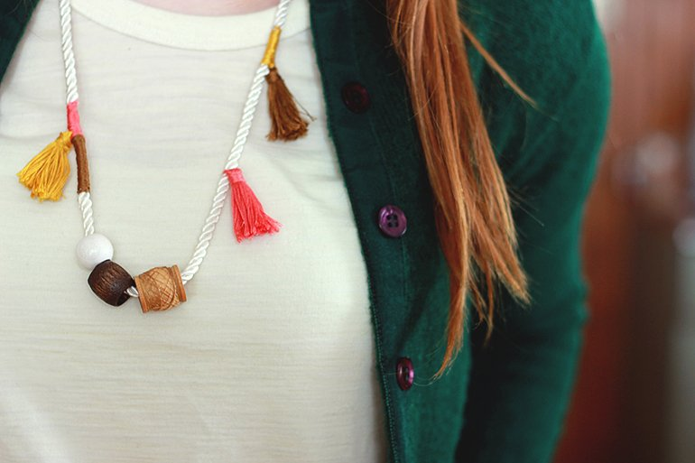 Anthro Inspired Tassel Necklace // The Merrythought
