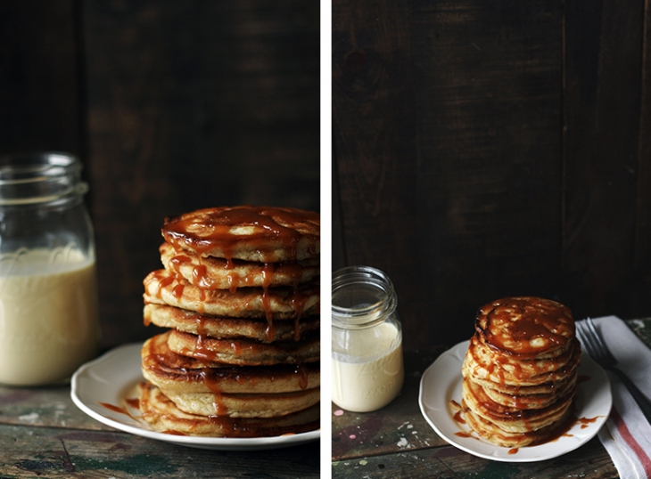 Salted Caramel Eggnog Pancakes @themerrythought