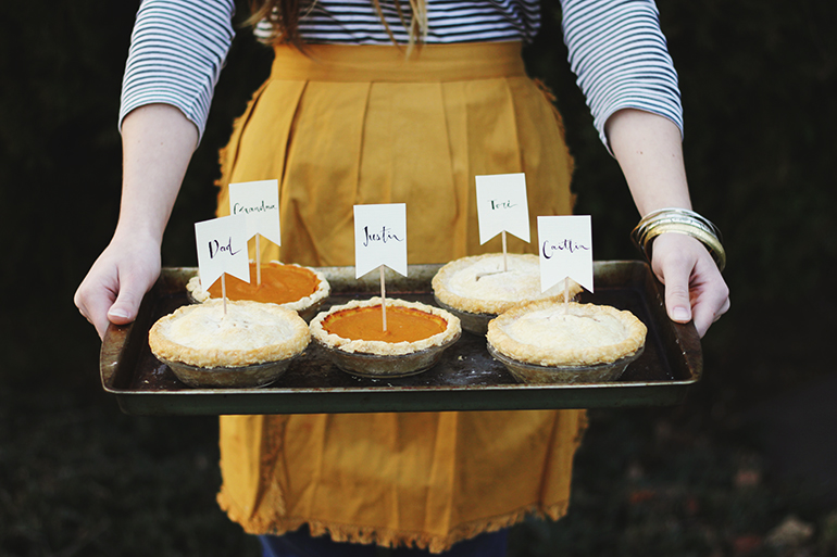 Mini Pie Place Cards @themerrythought