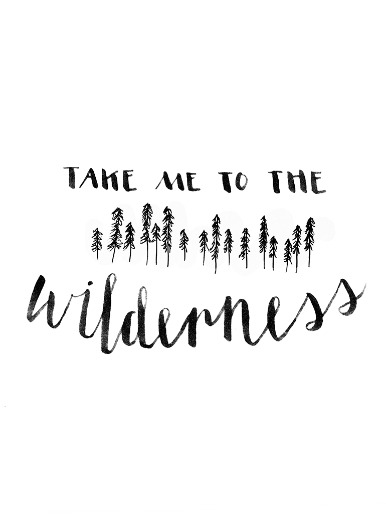 Free Wilderness Printable @themerrythought
